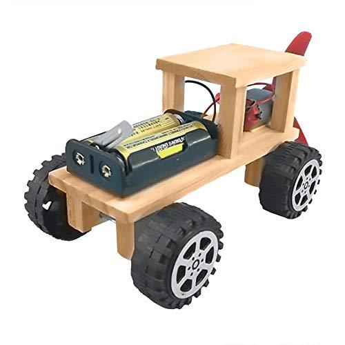 Holz DIY Elektrische Windkraft Physikalische Wissenschaft Experiment Spielzeug Kind Kinder Physik Lernen Wissenschaft Pädagogische Kit Montieren Modell Spielzeug DIY Familie Aktivität Wind Power Car