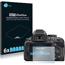 6x Savvies Protector Pantalla para Nikon D5200Protector - Transparente