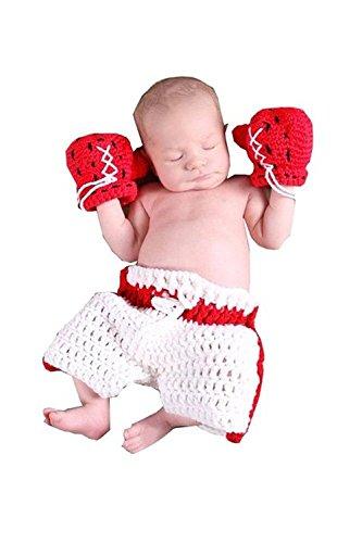 JT-Amigo Baby Kostüm für Neugeborenen Fotoshooting, Boxer Kostüm, 0-1 Monate