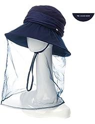 LWT - Sombrero Verano Femenino Tendencias Tronco plegable Sunbath Sol grande Sunblocks al aire libre a lo largo del hilo de protección solar Puede almacenar Antimpons Mosquito Bite One Hat Multi