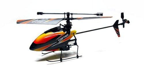 RCECHO® WLtoys RC Modell V911 4 Kanal 2.4 GHz Fernsteuerung Hubschrauber orange (Mode 2) EH012 mit RCECHO® Vollversion Apps Ausgabe