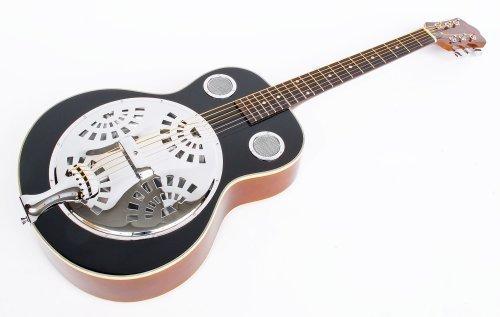 MPM Resonator Gitarre, schwarz