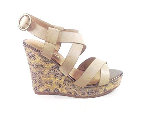 Chaussures Sandales femme-en simili cuir Beige YQ08 calage Beige - beige