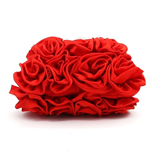 Borsa Alla Moda Signore Dolci A Mano Rose Casual Party Red