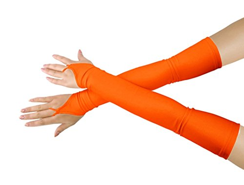 lucky baby store Mädchen 'Boys' Erwachsene Halloween Make-Up Fingerlose Über Elbow Cosplay Kostüm Handschuhe ()