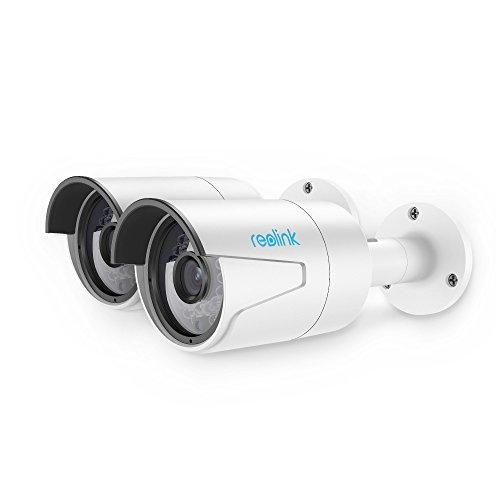 Reolink PoE IP Kamera / H.264 HD 2560x1440 Pixel Netzwerkkamera Außen / IP Überwachungskamera mit LAN & PoE 802.3af für Outdoor (Audio, 18 Infrarot-LEDs, Email und Push Alarm, FTP, ONVIF, DDNS, HTTPS, UPNP, P2P, RTSP) auf Handy, PC und Browser, RLC-410 (2 Stück)