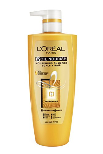 L'Oreal Paris Hex 6 Oil Shampoo, 640ml+64ml Free