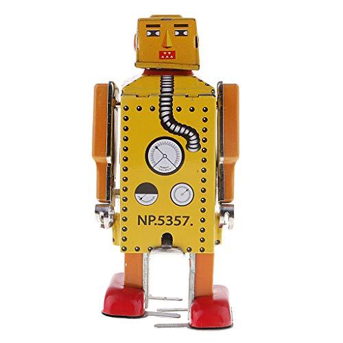 KESOTO Estilo Vintage Wind Up Tin Toy MS651 Robot Mecánico...