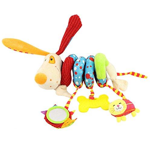 TOYMYTOY Juguete Espiral Colgantes Cochecito Cunas Juguetes de Actividad de peluche para bebés (Perro)