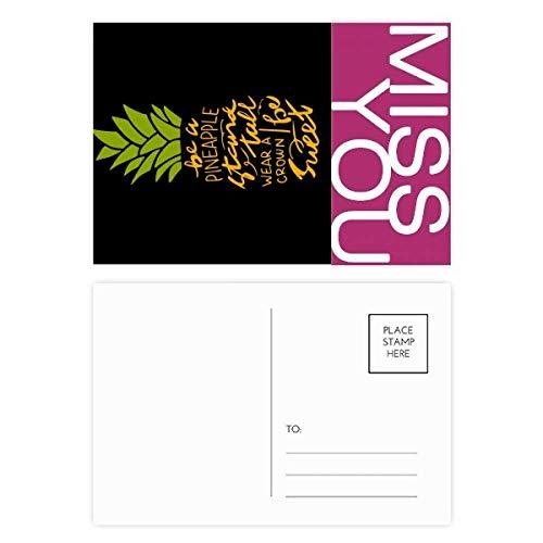 Be a Sweet Ananas-Frucht-Postkarten-Set, mit englischsprachiger Aufschrift, 20 Stück