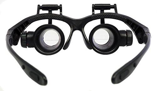Brillenlupe Lupenbrille Uhrmacherlupe Juwelierlupe verstellbare Vergrößerung 10x 15x 20x 25x