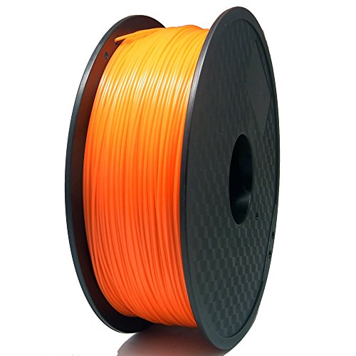 SIENOC 1 Packung 3D Drucker PLA 1.75mm Printer Filament - Mit Spule 1kg (Orange)