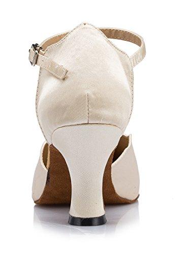 TDA - Sandali con Zeppa donna 7cm Heel Beige