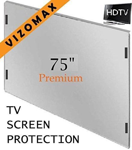 75-Zoll-Vizomax TV-Bildschirm-Schutz für LCD, LED und Plasma-HDTV. UV-Schutz, Fernseher-Displayschutz Protector