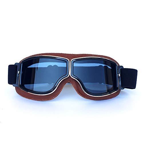 HONCENMAX Gafas Moto Retro Vintage Gafas Protección