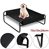 Queiting large Elevated Pet Bed Portable Waterproof Raised Camping Dog Bed for Indoor & Outdoor Use(70 * 70 * 28CM)