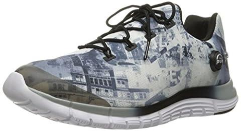 Reebok Women's Zpump Fusion Urban Running Shoe, Baseball Grey/White/Black, 7 M US