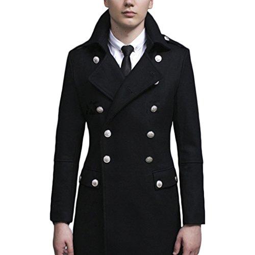 MESE London - Manteau - Moderne - Homme Noir