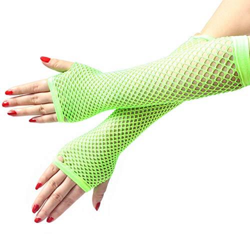 Vintage Kostüm Gewichtheber - KBWL Fischnetz Handschuhe Frauen Sexy Disco Dance Kostüm Fingerlose Handschuhe Frauen Lange Handschuhe Sommer Heißer