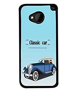 PrintVisa Classic Car High Gloss Designer Back Case Cover for HTC M7 :: HTC One M7