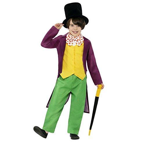 Roald Dahl Willy Wonka - Kinderkostüm (UK 7-9 years) (Willy Wonka Kostüm Mädchen)