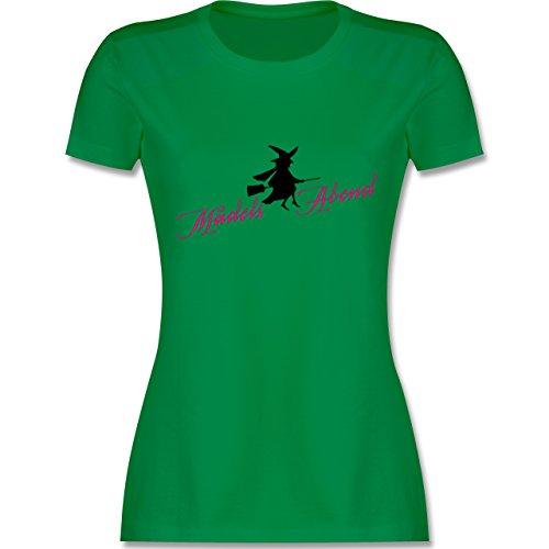 Typisch Frauen - Mädelsabend - tailliertes Premium T-Shirt mit Rundhalsausschnitt für Damen Grün