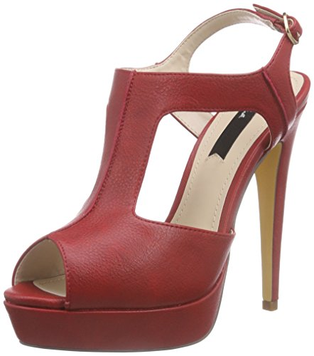 Blink Bbrancal, Sandales Plateau femme Rouge - Rot (31 Red)