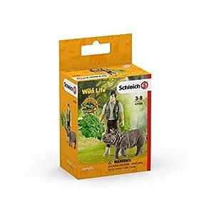 Schleich Set de iniciación con Ranger y Rinoceronte 42428