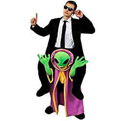 ILOVEFANCYDRESS Disfraz con diseño que simula ir a hombros de un alien