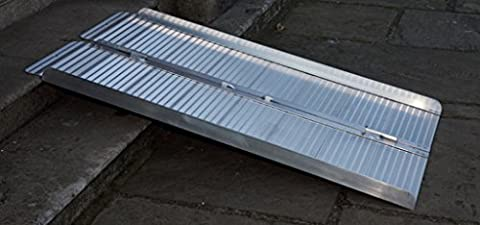 Folding Lightweight Aluminium Channel Ramp – Heavy Duty Non-Slip Tool for Wheelchair