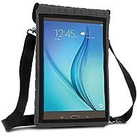 Funda Tablet 10 Pulgadas de neopreno (Gris) USA GEAR | Carcasa Universal Protectora con Pantalla Transparente Tactil y cinta para llevarla al hombro| Perfecta para Apple Ipad, Samsung, BQ y otros.