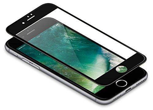 vau Panzerglas Pro für iPhone 8 / iPhone 7 – Panzer-Folie, Display-Schutzfolie deckt gesamte iPhone7 iPhone8 Front ab ( schwarz ) Ab Glas