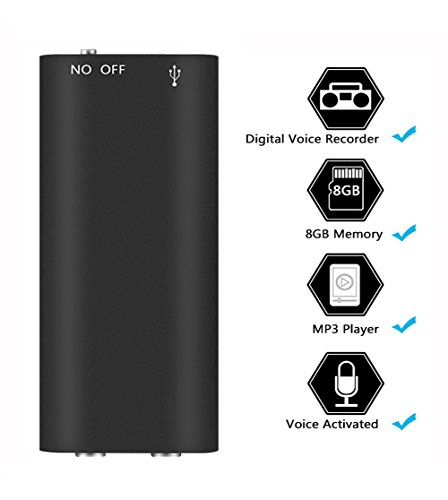 Voice Recorder -Mini USB Digital Voice Recorder Portable Rechargeable HD Dictaphone Sound Recorder with MP3 Player(90 Hours Recordings/11 Hours Battery Life/Record While Charging)