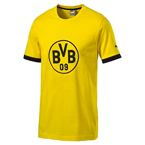 Puma Camiseta con Insignia del Borussia Dortmund para Hombre, Hombre, Color Amarillo/Negro, Tamaño XX-Large