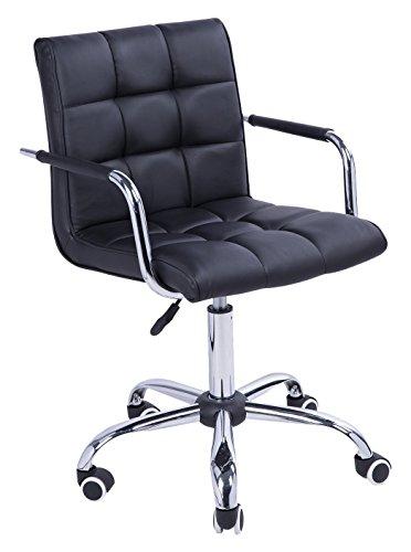 homcom 02-0697 Bürostuhl, Lederimitat, schwarz, 52,5 x 54 x 94 cm