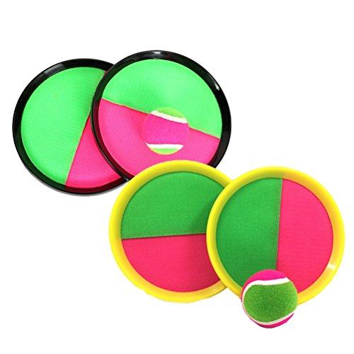 STOBOK 2 Paket fangen Ball paddel Spiel Set klebrige Ball Spielzeug fangen Ball Spiel Set werfen und fangen Sport Outdoor Spielzeug für Kinder