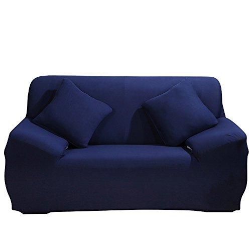PengXiang Überzug, Elastische Sofa Überwürfe mit Spandex-Stoff Sofa Abdeckung in Farbe von Blau (2 Sitzer für Sofalänge von 135-170cm)