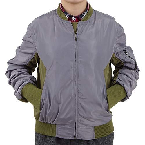 Zhangjianwangluokeji Jacke von Major Cosplay Kostüm Fliegende Jacke (Grau, - Scarlett Johansson Kostüm