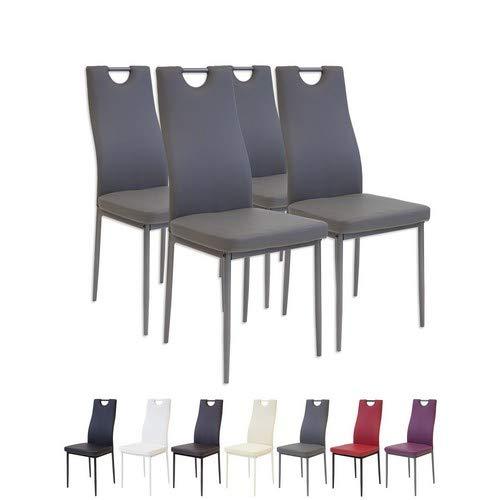 o Esszimmerstühle, 4-er Set, grau ()
