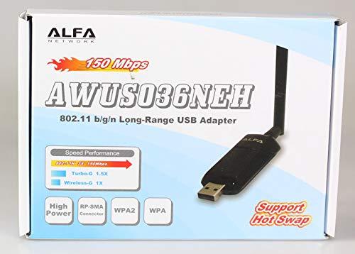 Alfa 1W 1000mW gain de 802 11g / n élevé (gain de l'antenne) USB Wi-Fi sans  fil G / N longue portée WiFi adaptateur réseau - clé protection