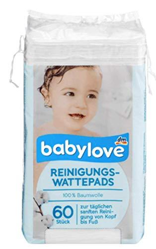 Babylove Reinigungs-Wattepads, 4er Pack (4 x 60 St)