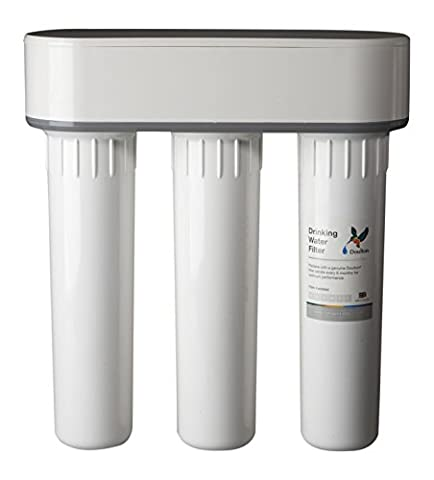 Doulton TRIO under sink Drinking Water Filter Housing ¦ 3/8 inch John Guest push-fit inlet & outlet connections ¦ no drinking water filter cartridge candle included ¦ 10 inch ¦ BSP thread ¦ W9380002