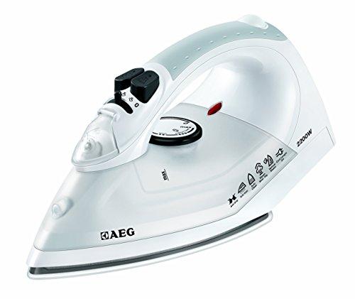 AEG DB 1370 - Plancha de vapor con placa de cerámica, función de autolimpieza y regulación de temperatura sin etapas