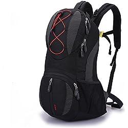 Lily's Locker -20L Trekking Backpack (47cm x 26cm x 15cm) Hombre y Mujer Bolsas al Aire libre Para Casual, Escalada Ciclismo Bicicleta y Otras Actividades (Negro)