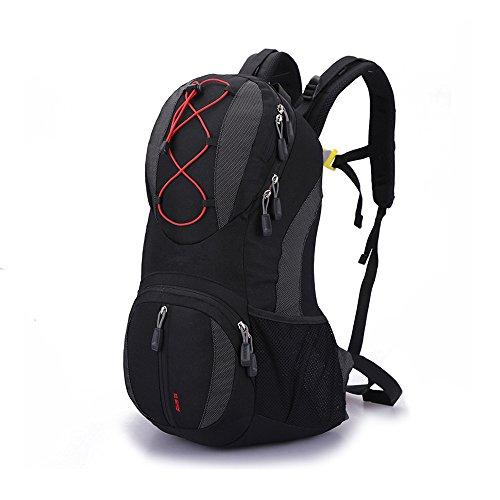 Lily's Locker - 20L Trekking Rucksack (47 cm x 26 cm x 15 cm) Damen und Herren Outdoor-Tasche für die Freizeit, zum Klettern, Radfahren, Wandern, für Radtouren und andere Aktivitäten Schwarz