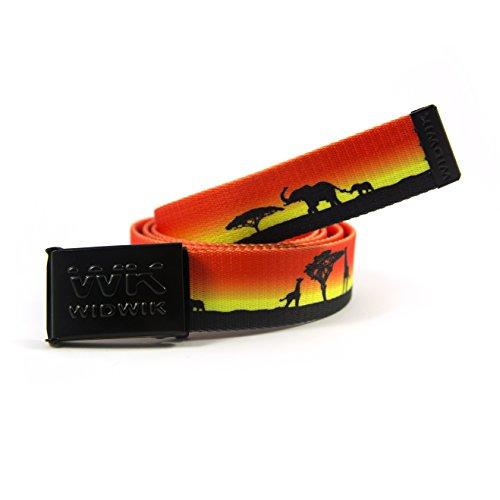 Cinturón Sabana, safari de Widwik cinto con sombras de animales Elefantes, Rino.