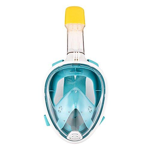 Tauchmaske Vollmaske, Wildlead Schnorchelnde Maske Trockene Schnorchel- und Anti- Nebeltechnologie Freie Atmung Design Tauchmaske mit GoPro Slot