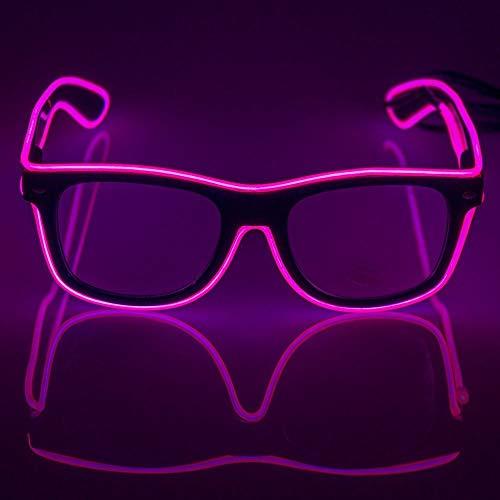 (fronnor EL Draht Glow Sun LED DJ-Bright Light Safety Light Up, multicolor Rahmen Stimme Control LED blinkendes Gläser)
