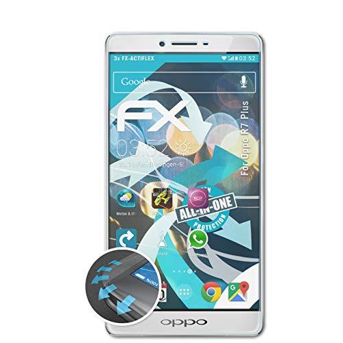atFolix Schutzfolie passend für Oppo R7 Plus Folie, ultraklare & Flexible FX Bildschirmschutzfolie (3X)