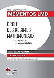 Mémentos LMD - Droit des régimes matrimoniaux 2015-2016